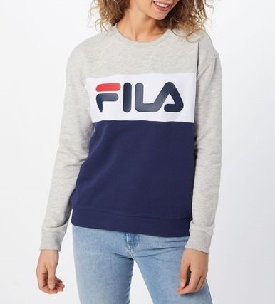 Fila Women Leah Crew Sweat Light Grey Melange (687043 A210)