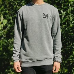 BLUZA MALITA M LOGO HEATHER GREY
