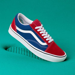 BUTY VANS COMFYCUSH OLD SKOOL (Two-Tone) Chili pepper/True Blue