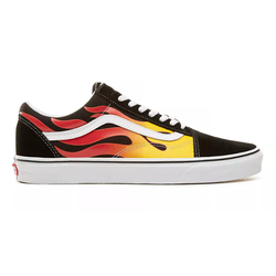 BUTY VANS OLD SKOOL FLAME Black-True White