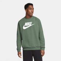 Bluza Nike Men's Fleece Crew (CU4473-353) SPIRAL SAGE/WHITE