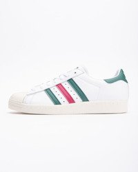 Buty Adidas Superstar 80S CQ2654 Ftw White/Collegiate Green/Mystery Ruby
