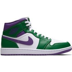 Buty Air Jordan 1 MID (554724-300) ALOE VERDE/COURT PURPLE-WHITE
