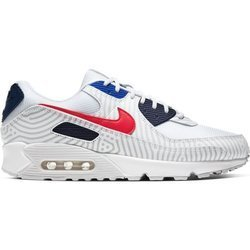 Buty Nike Air Max 90 (CW7574-100) WHITE/UNIVERSITY RED-MIDNIGHT NAVY