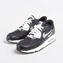 Buty Nike Air Max 90 Gs 724882-101 White / Reflect Silver – Black