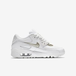 Buty Nike Air Max 90 Leather (GS) (833376-103) Summit White/Metallic Gold