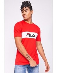 KOSZULKA FILA MEN NOLAN DROPPED SHOULDER (A073) TRUE RED/WHITE