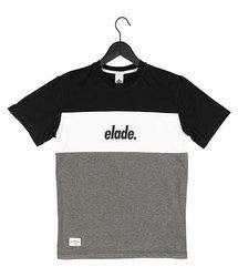 Koszulka Elade COLOUR BLOCK BLACK/WHITE/GREY