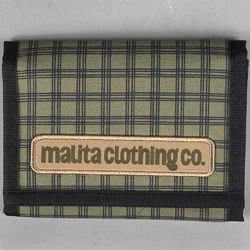 Portfel Malita Checked green/black
