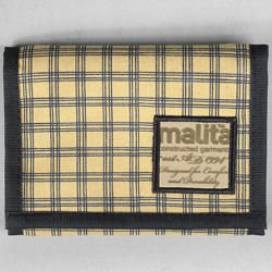 Portfel Malita Checked yellow/black