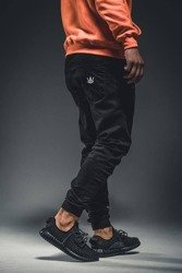 Spodnie Jigga Wear Jogger Crown Black