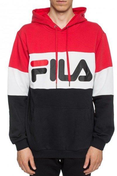 Bluza Fila Men Night Blocked Hoody black iris true red bright white