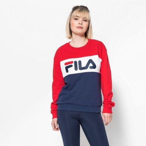 wylot online style mody oryginalne buty Bluza Fila LEAH CREW BLACK IRIS/TRUE RED (687043-G06)