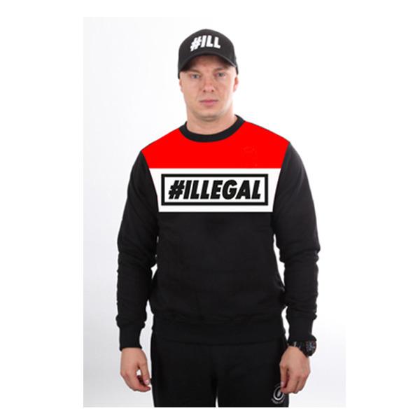 Bluza Illegal Klasyk RedBlack