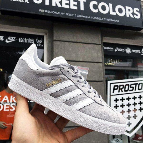 buy popular 1da09 20b20 Buty Adidas Gazelle Women BY2852 (Mid Grey  Ftwr White  Gold Metallic)