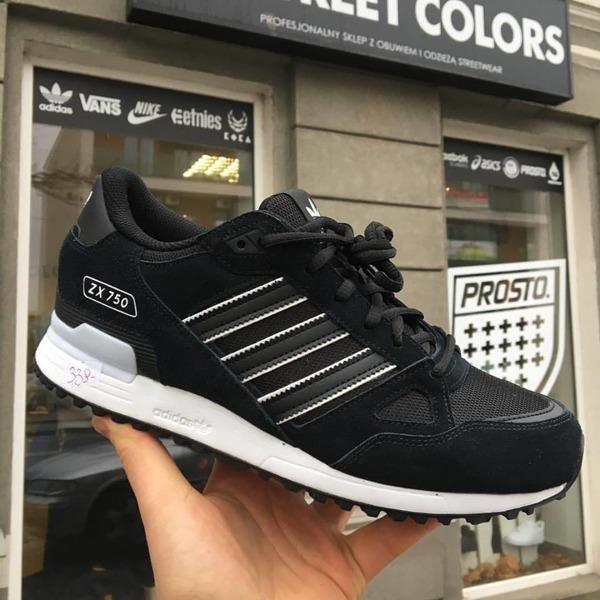 Hurt nowe przyloty autentyczny Buty Adidas Originals ZX 750 BY9274 black | Obuwie \ Męskie ...