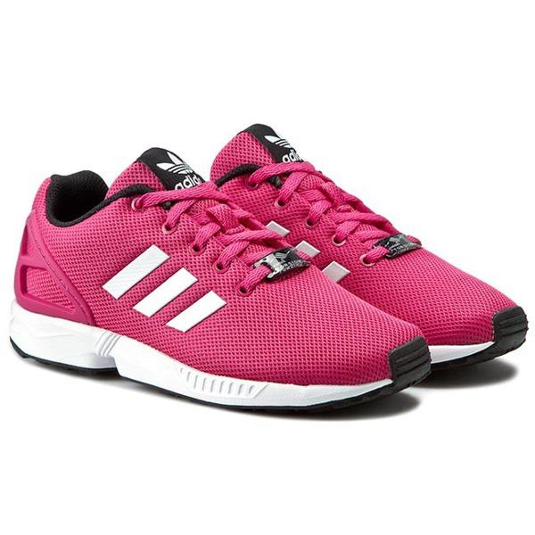 Adidas ZX Flux K S74952 (damskie) sklep Różowe tkanina
