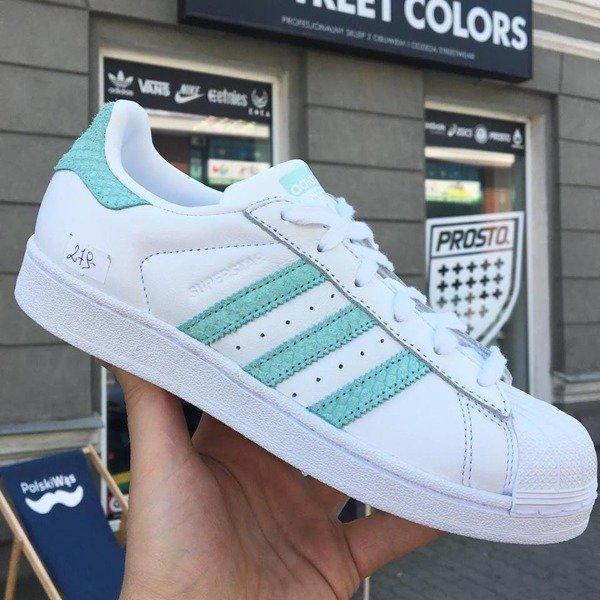 reputable site 10493 b09e6 Buty Adidas Superstar W CG5461 white/green | Obuwie ...