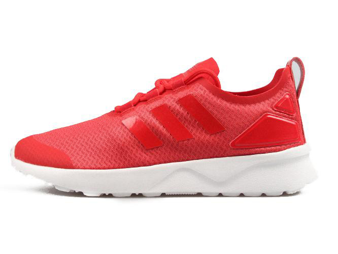 red and white adidas zx flux