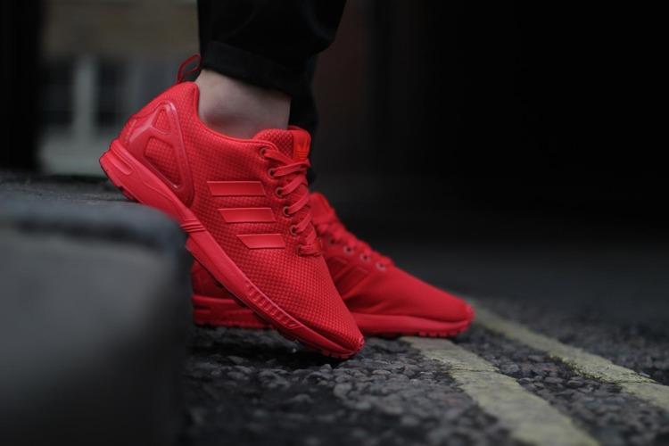 dobra tekstura rozmiar 7 największa zniżka Buty Adidas ZX Flux S78344 (red/red)
