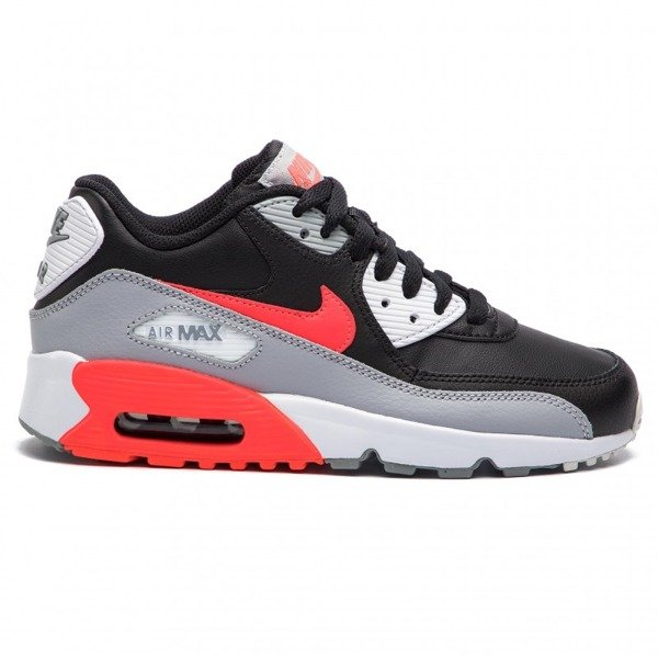 Buty Air Max 90 Ltr (GS) 833412 024 Wolf GreyBright Crimson