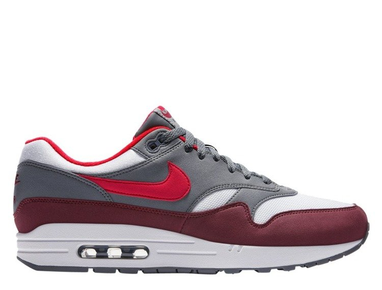 Buty Nike Air Max 1 white university red cool grey