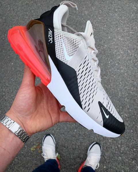 Buty Nike Air Max 270 (AH8050 003) BLACKLIGHT BONE HOT PUNCH WHITE