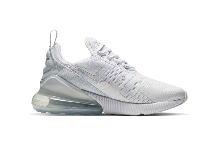 Nike Air Max 270 GS White Silver 943345 103 | KicksCrew