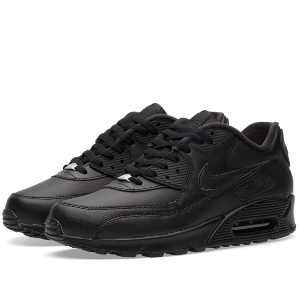 low priced c5bcd 55726 Buty Nike Air Max 90 Leather 302519-001 (black)