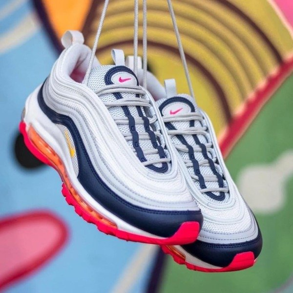 Buty damskie sneakers Nike Air Max 97 pure platinum laser orange (921733 015)