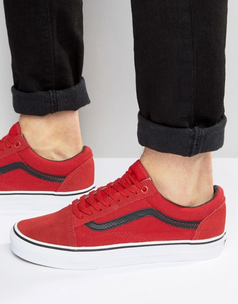buty vans old skool red