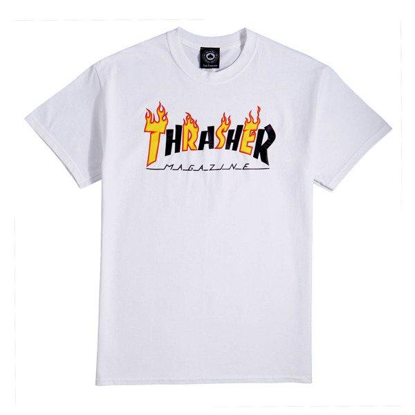 e1de76c91 Koszulka Thrasher FLAME MAG white   Odzież \ Męska \ T-shirty Odzież \  Damska \ T-shirty   Street Colors