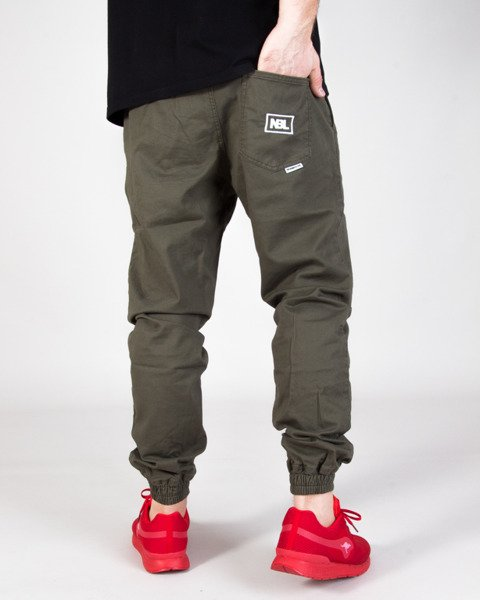 Spodnie New Bad Line Jogger Icon Khaki | Odzież  Męska