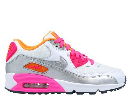 Buty  Nike Air Max 90 Gs 724855-101 Metalic Silver