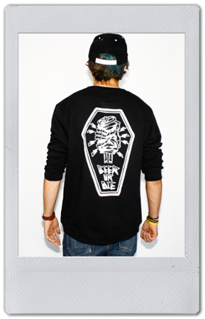 Bluza Beer Or Die Scottish Pocket Balck