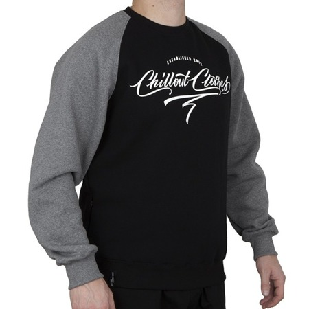 Bluza Chillout Clothes Caligraphy black/grey