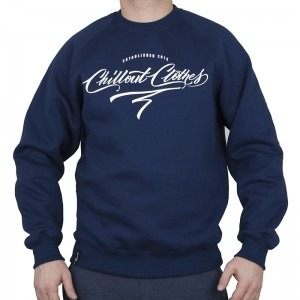 Bluza Chillout Clothes Caligraphy navy