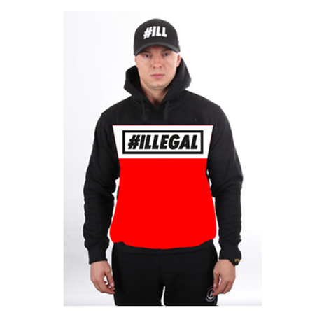 Bluza Illegal Hoody Red/Black