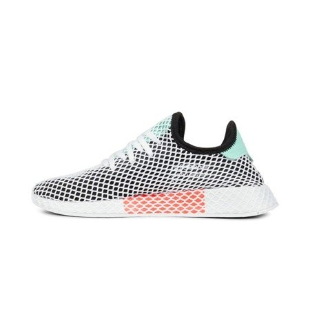Buty Adidas Deerupt Runner (B28076) Core Black/Easy Green/White