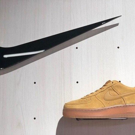 Buty Nike Air Force 1 (BQ5485-700) WHEAT/WHEAT-GUM LIGHT BROWN