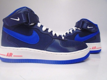 Buty Nike Air Force 1 Mid GS 314195-412  (MIDNIGHT NAVY/LYON BLUE/WHITE/CRIMSON)