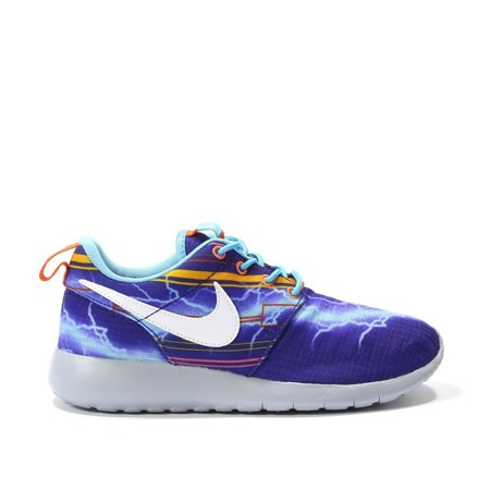 Buty Nike Rosherun Print Gs Deep Royal 677782-401