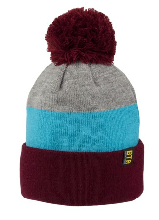 Czapka Born To Ride Pompon Roll Maroon/Sky Blue/Grey