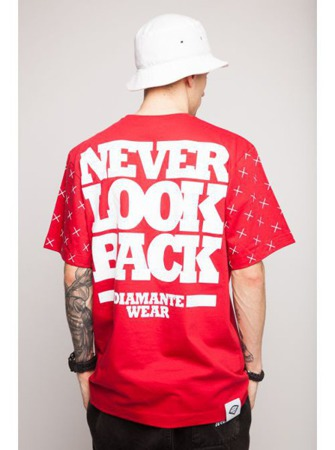 Koszulka Diamante Wear Never Look Back Red