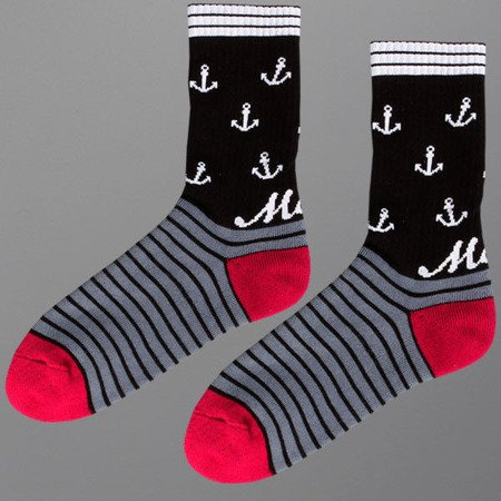 Skarpetki Malita Black Anchors