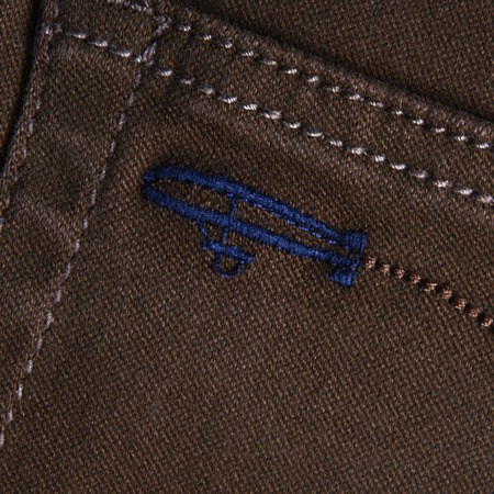 Spodnie Malita Baloon Brown Slim Fit